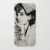 audrey iPhone & iPod Cases featuring Audrey by Krzyzanowski Art