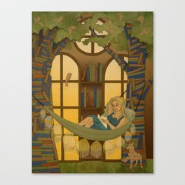 Reading Forest Canvas Print