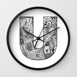 Cutout Letter U Wall Clock