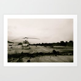 Helicopter on a Glacier Art Print