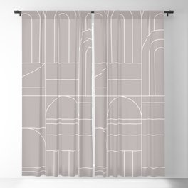 Deco Geometric 04 Grey Blackout Curtain