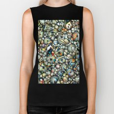 Colorful 3D Abstract Biker Tank
