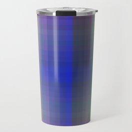 P003 Rainbow Plaid Travel Mug