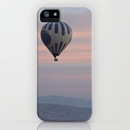 Balloon ride in pastels by Laila Cichos iPhone Case