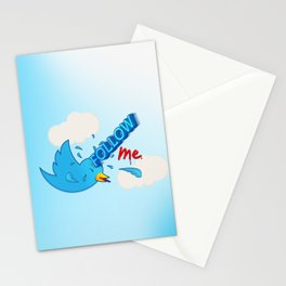 follow me! Stationery Cards