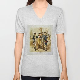 Infantry: Continental Army 1779-1783 by H.A. Ogden (1879) Unisex V-Neck