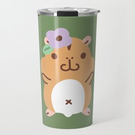 Hamster and Flower Travel Mug