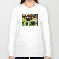 tulips Long Sleeve T-shirts featuring Tulips by Louise Machado