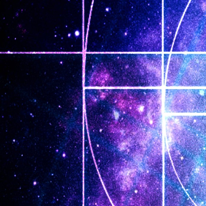 Galaxy sacred geometry Golden Mean Deep Blue Leggings