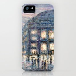 View of the Theâtre du Châtelet by Maximilian Luce iPhone Case