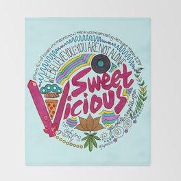 Sweet/Vicious Throw Blanket