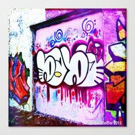Kitty Kitty Graffiti West Philly Canvas Print