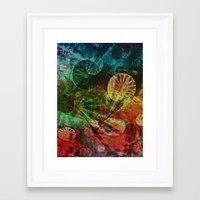 secret life Framed Art Prints featuring The Secret Life of Plankton by Klara Acel
