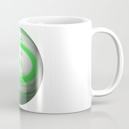 Lime Green & Milky White Sphere Coffee Mug