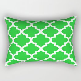Arabesque Architecture Pattern In Summer Green Rectangular Pillow