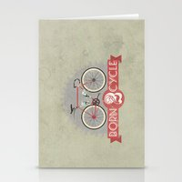 brompton Stationery Cards featuring Born To Cycle by Wyatt Design