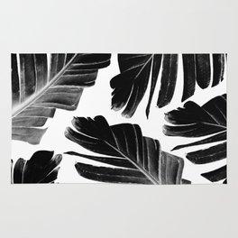 Tropical Black Banana Leaves Dream #1 #decor #art #society6 Rug