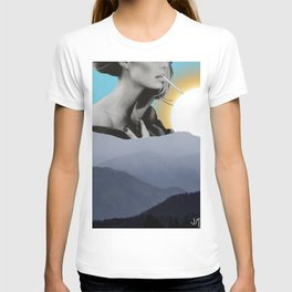 Over The Mountains - Smoking Woman T-shirt