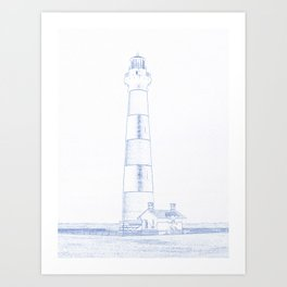 Abstract Drawing of Lighthouse No6 Art Print