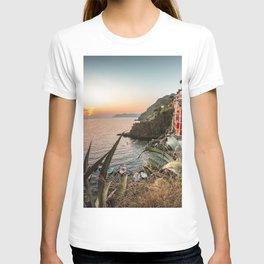 riomaggiore village in italy T-shirt