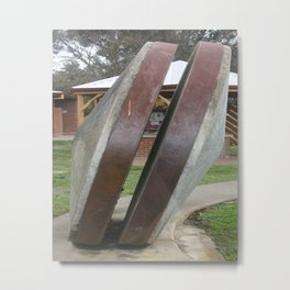 Chilean Mill Wheels Metal Print