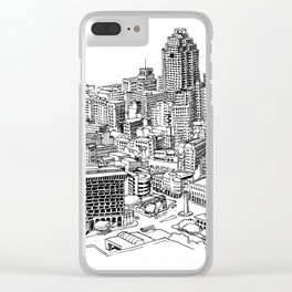 San Antonio skyline Clear iPhone Case