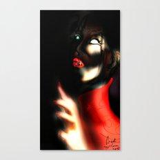 Red Art Canvas Print
