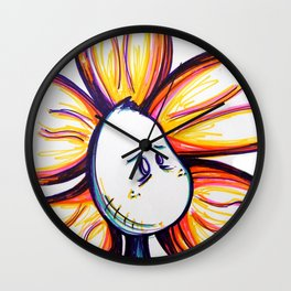 """What's A Day Even?"" Flowerkid Wall Clock"