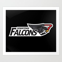 Downtown Falcons Full Logo Art Print
