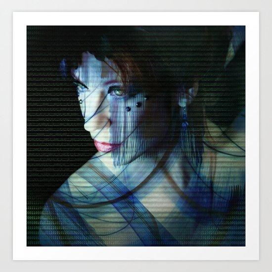 Binary Encoding II Art Print