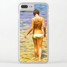 Summer Splendour Clear iPhone Case