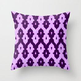 Mauresque Counterchange (Lilac) Throw Pillow