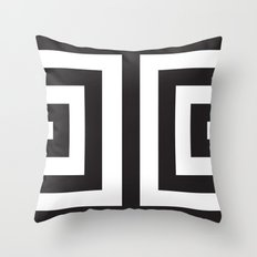 Black Greek Stripes Throw Pillow