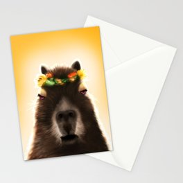 Capybara Shining Stationery Cards