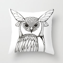 Wings and Eyes Throw Pillow