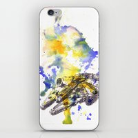 millenium falcon iPhone & iPod Skins featuring Star Wars Millenium Falcon  by idillard