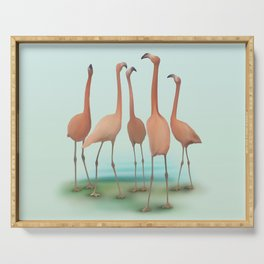 Flamingo Mingle Serving Tray