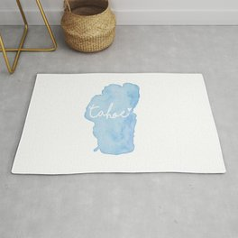 Shoreline Shape of Lake Tahoe  Rug
