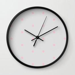 Soft Dots Wall Clock