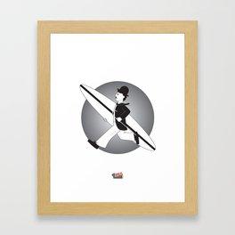 Charlie Does Surf Framed Art Print