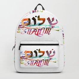 Shalom Hebrew Word Backpack