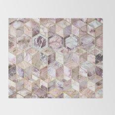 Blush Quartz Honeycomb Throw Blanket