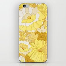 Retro floral sheets yellows iPhone & iPod Skin
