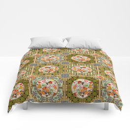 Persian Tile Butterfly Variation Comforters