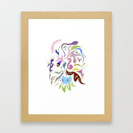 My pieces of invisible worlds II Framed Art Print