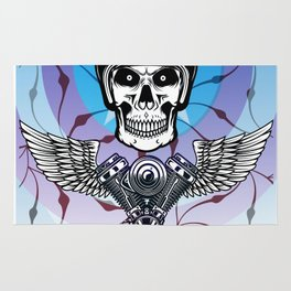 biker from hell Rug