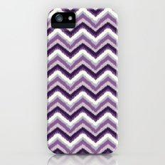 Ikat Chevron: Purple Tonal  iPhone (5, 5s) Slim Case