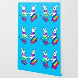 Rainbow Rabbit Wallpaper