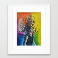 reggae Framed Art Prints featuring Reggae by Halinka H