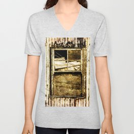 Window in a tin wall Unisex V-Neck